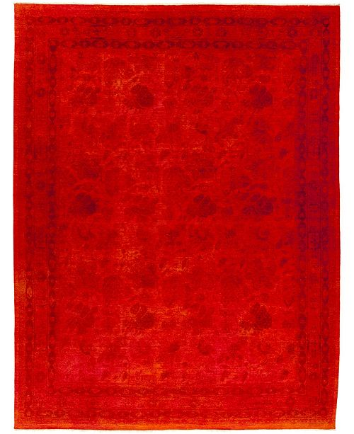 Timeless Rug Designs CLOSEOUT! One of a Kind OOAK445 Red 9' x 12' Area Rug