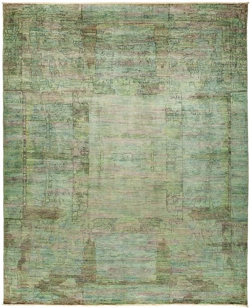 "Timeless Rug Designs CLOSEOUT! One of a Kind OOAK464 Sage 7'10"" x 9'5"" Area Rug"