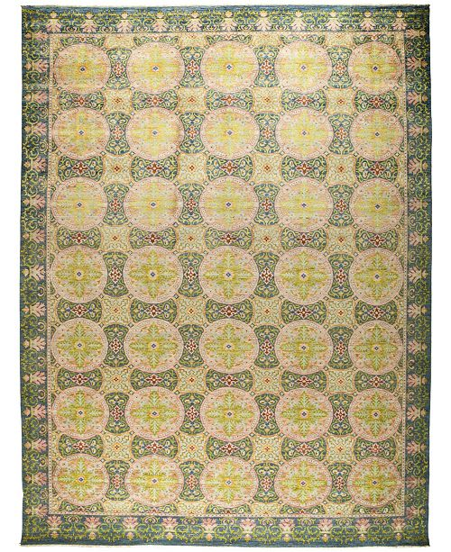 """Timeless Rug Designs CLOSEOUT! One of a Kind OOAK523 Green 12'2"""" x 16'1"""" Area Rug"""