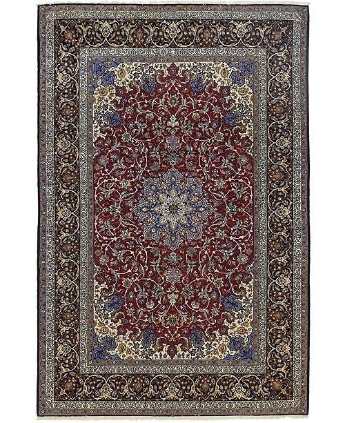 "Timeless Rug Designs CLOSEOUT! One of a Kind OOAK584 Raspberry 7' x 10'7"" Area Rug"