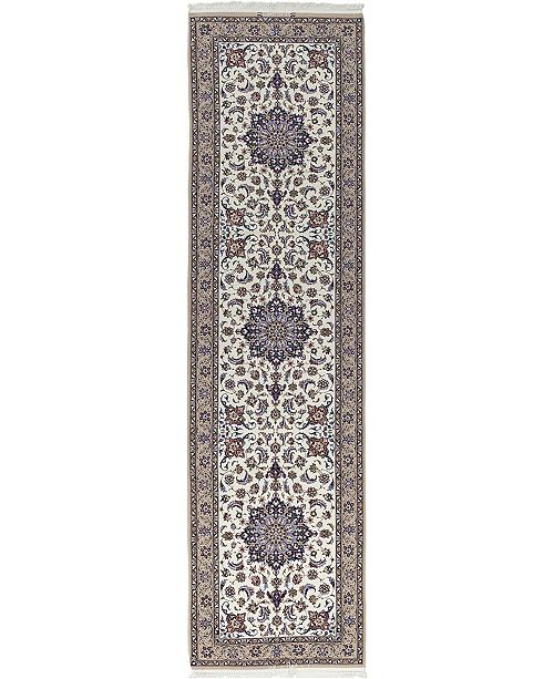 """Timeless Rug Designs CLOSEOUT! One of a Kind OOAK604 White 2'6"""" x 9'10"""" Runner Rug"""