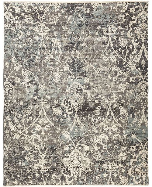Timeless Rug Designs CLOSEOUT! One of a Kind OOAK695 Slate 8' x 10' Area Rug