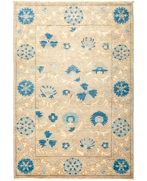 """Timeless Rug Designs CLOSEOUT! One of a Kind OOAK1319 Sapphire 4'3"""" x 6'2"""" Area Rug"""