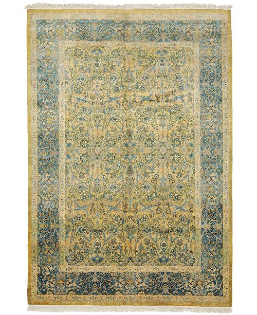 """Timeless Rug Designs CLOSEOUT! One of a Kind OOAK4023 Flax 6'1"""" x 8'9"""" Area Rug"""
