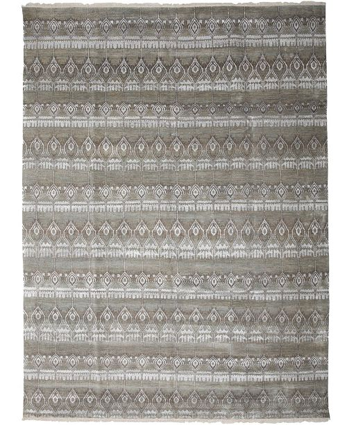 "Timeless Rug Designs One of a Kind OOAK2657 Silver 9'1"" x 12'2"" Area Rug"