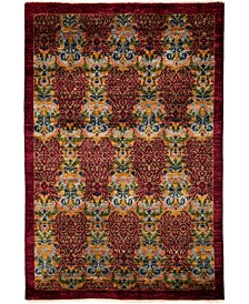 """CLOSEOUT! One of a Kind OOAK3728 Cherry 5'1"""" x 8' Area Rug"""