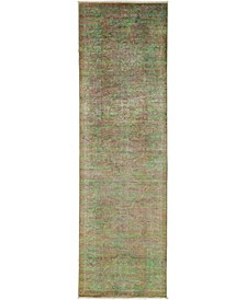 """CLOSEOUT! One of a Kind OOAK3266 Sage 3'2"""" x 10'5"""" Runner Rug"""