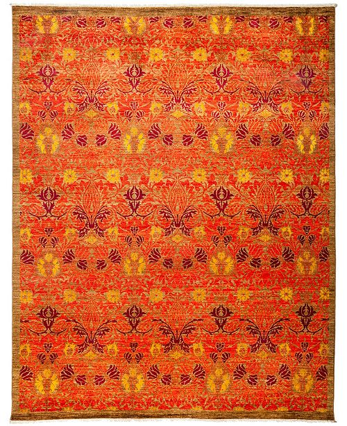 "Timeless Rug Designs CLOSEOUT! One of a Kind OOAK3201 Tangerine 7'10"" x 10'1"" Area Rug"