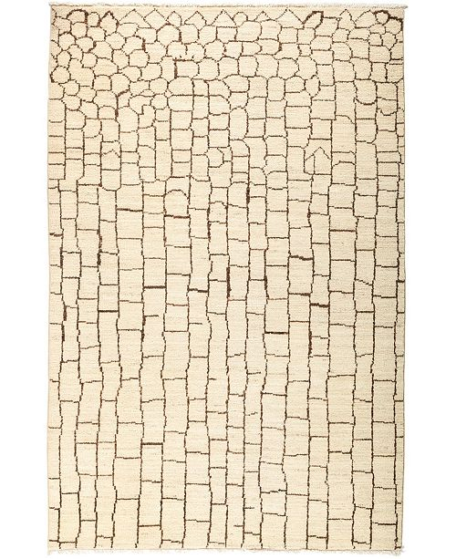 "Timeless Rug Designs CLOSEOUT! One of a Kind OOAK3070 Ivory 5'1"" x 7'8"" Area Rug"