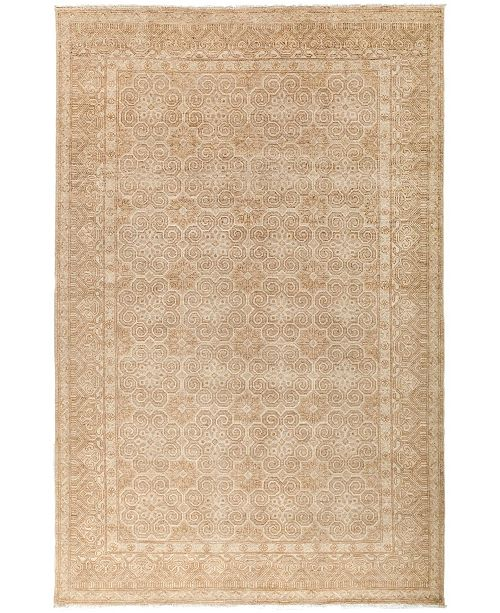 "Timeless Rug Designs CLOSEOUT! One of a Kind OOAK3035 Beige 6' x 9'2"" Area Rug"