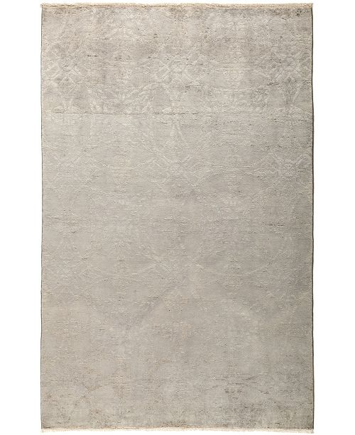 """Timeless Rug Designs CLOSEOUT! One of a Kind OOAK24 Silver 5'3"""" x 8'1"""" Area Rug"""