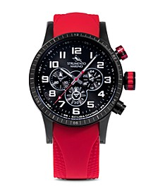 Men's Missouri Professional Scuba Red Silicone Performance Timepiece Watch 46mm