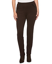 Women's Ponte Comfort Fit Slim Leg Pants-Short Inseam
