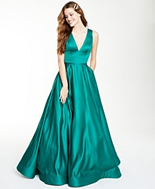 Juniors' Satin Gown