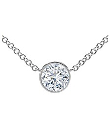 Tribute™ Collection Diamond (1/5 ct. t.w.) Necklace with Mill-Grain in 18k Yellow, White and Rose Gold