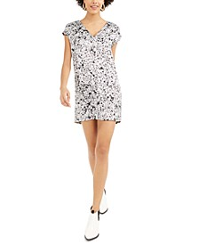 Printed Satin Shift Mini Dress, Created For Macy's