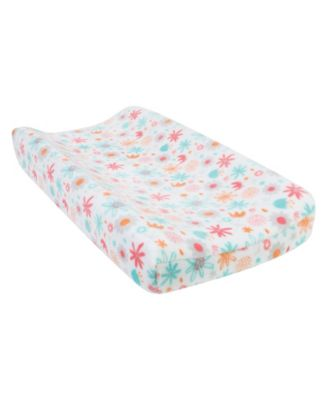 Floral Plush Changing Pad Cover