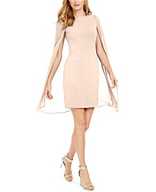Chiffon Capelet Sheath Dress