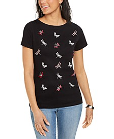 Cotton Embellished Boat-Neck Top, Created for Macy's
