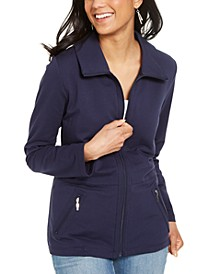 Wing Collar Zip-Front Jacket, Created for Macy's