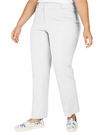 Plus Size Newport Straight-Leg Pants, Created for Macy's