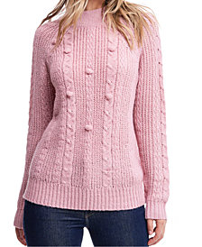 Fever Cable-Knit Mock-Neck Sweater