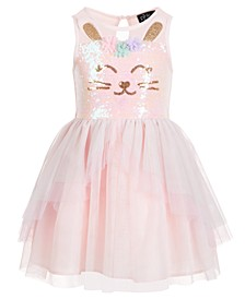 Little Girls Sequin Bunny Dress