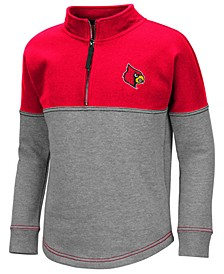 Big Girls Louisville Cardinals Dot Half-Zip Pullover