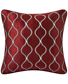 "Norwich Burgundy 16""X16"" Decorative Pillow"