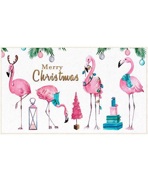 "Mohawk Merry Flamingos Accent Rug, 18"" x 30"""