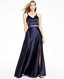 Juniors' 2-Pc. Satin Ball Gown