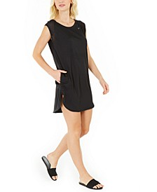 Solid Sleeveless Cover-Up Dress