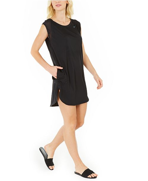 Nike Solid Sleeveless Cover-Up Dress