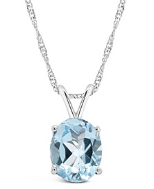 Sky Blue Topaz (3  ct. t.w.) Pendant Necklace in Sterling Silver. Also Available in Citrine, Amethyst and Rose Quartz