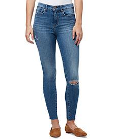 WILLIAM RAST Distressed High Rise Skinny Jeans