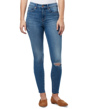 William Rast Distressed High Rise Skinny Jeans In Day Trip