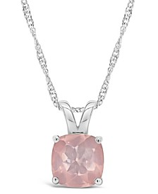 Sky Blue Topaz (2-3/4 ct. t.w.) Pendant Necklace in Sterling Silver. Also Available in Rose Quartz, Citrine and Amethyst