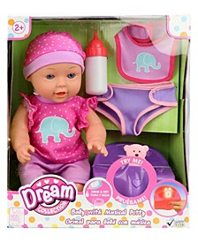 "Dream Collection 12"" Baby Doll with Musical Potty"