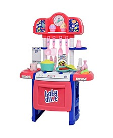 Pretend Play Baby Doll Kitchen Set with Cooking Accessories