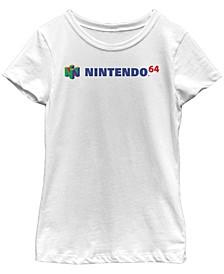 Nintendo Big Girl's Classic Full N64 Logo Short Sleeve T-Shirt