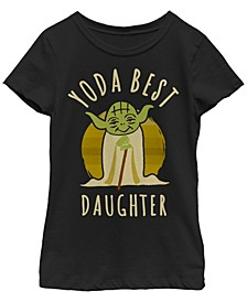 Star Wars Big Girl's Yoda Best Daughter Cartoon Yoda Short Sleeve T-Shirt