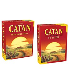 Catan 5th Edition Board Game with 5-6 Player Extension Pack