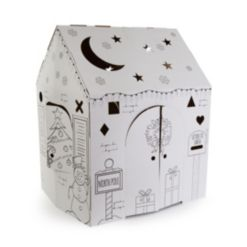 Easy Playhouse Holiday Cottage Cardboard Playhouse
