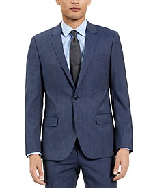 Men's Slim-Fit Blue Check Suit Jacket, Created for Macy's