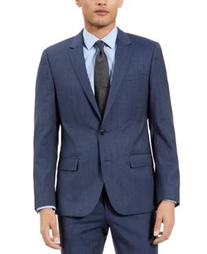 Hugo Men's Slim-Fit Blue Check Suit Jacket, Created for Macy's