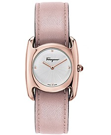 Women's Vara Pink Leather Strap Watch 28x34mm