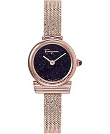 Women's Swiss Gancini Rose Gold Ion-Plated Mesh Bracelet Watch 22mm