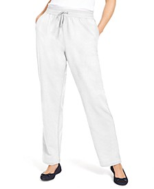 Sport French Terry Ribbon Trim Pants, In Regular and Petite, Created for Macy's