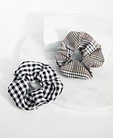 2-Pc. Houndstooth & Gingham Scrunchie Set