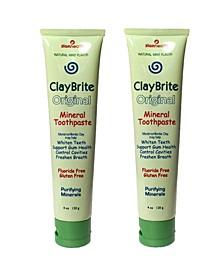Claybrite Toothpaste For Superior Gum Health Set of 2 Pack, 8oz